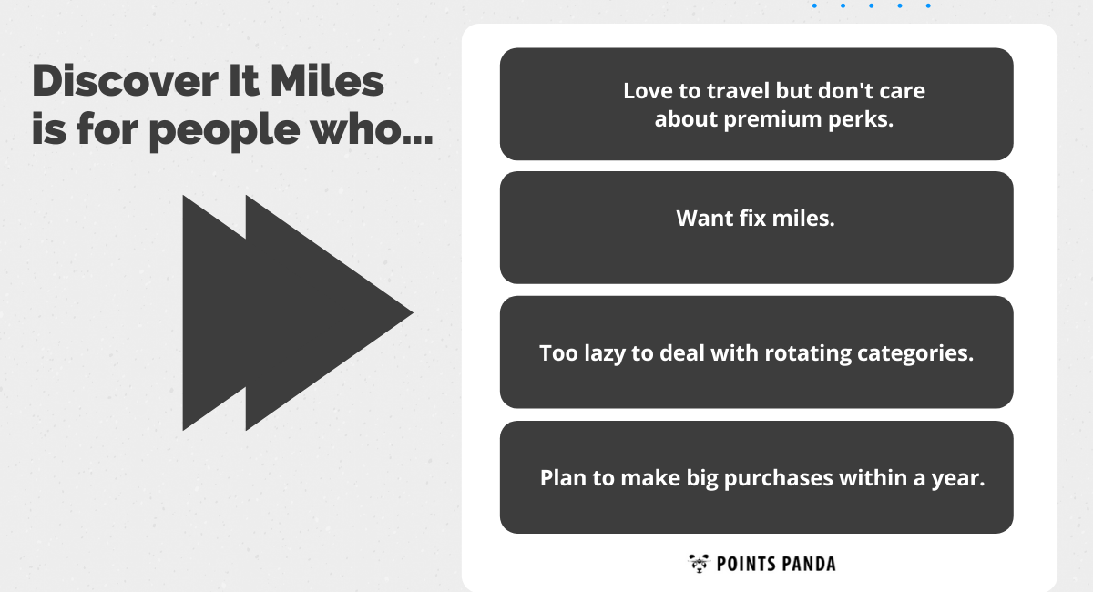 Who Should Get Discover It Miles Card?