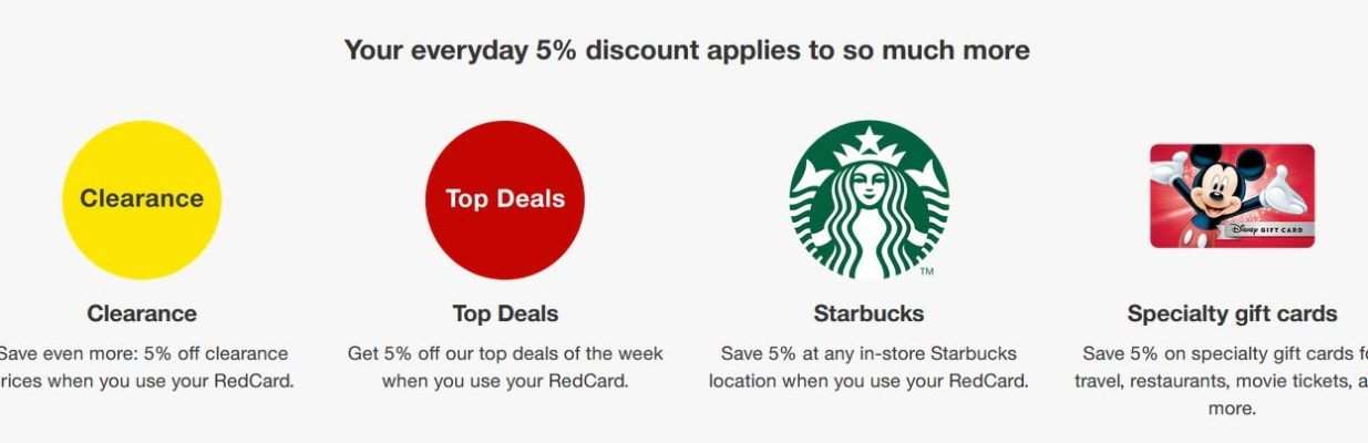 The Target RedCard could get you a 5% discount on in-store Starbucks and certain Target purchases