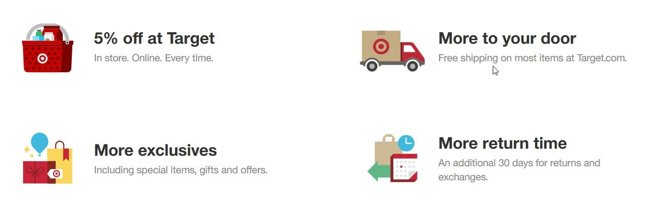 You can get up to 5% off at Target and free shipping with the Target RedCard