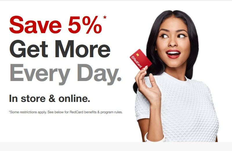 The Target RedCard can save you 55 in-store and online