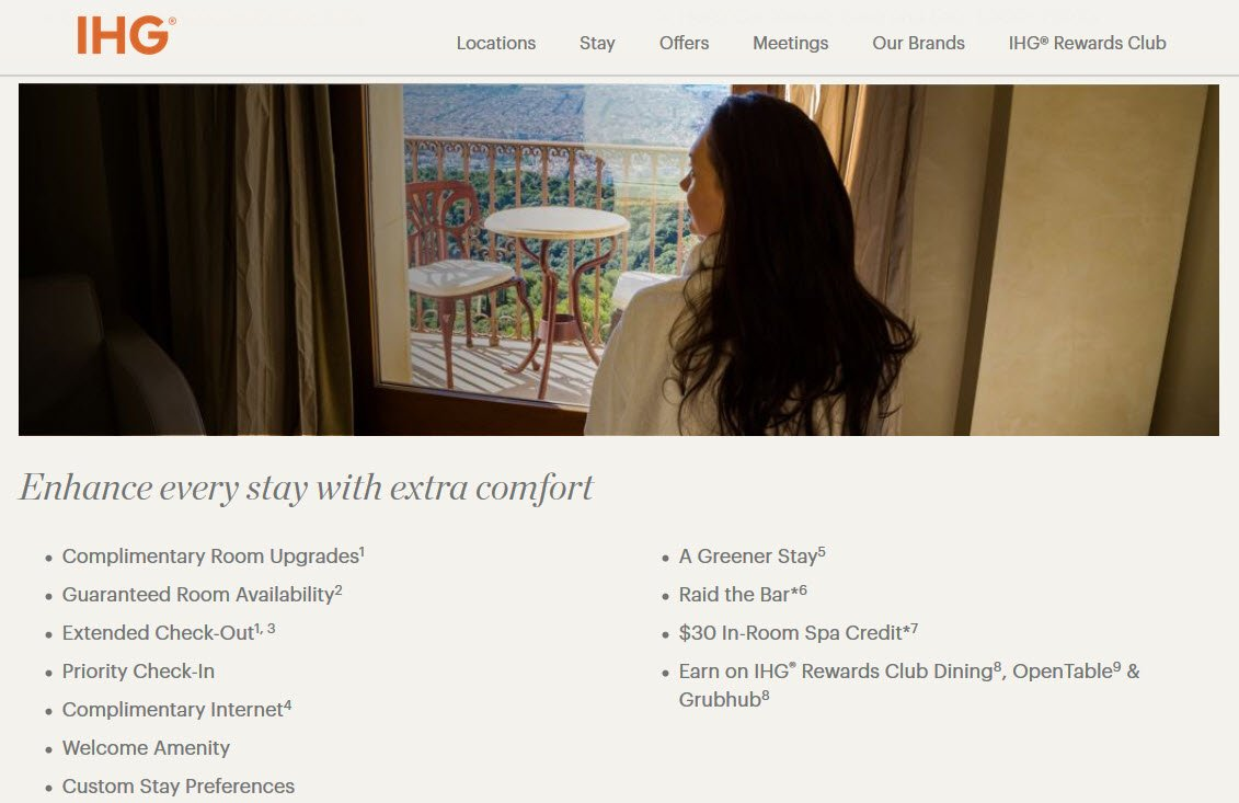 The IHG Rewards Club Premier Card Comes with IHG Rewards Platinum Elite Benefits