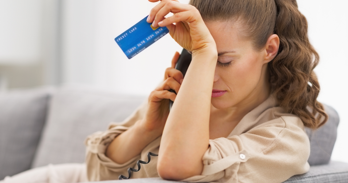 Waiting on call with credit card