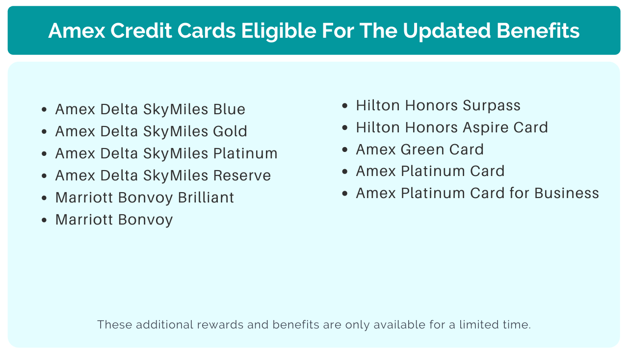Amex Coronavirus credit cards eligible for the new bonus categories
