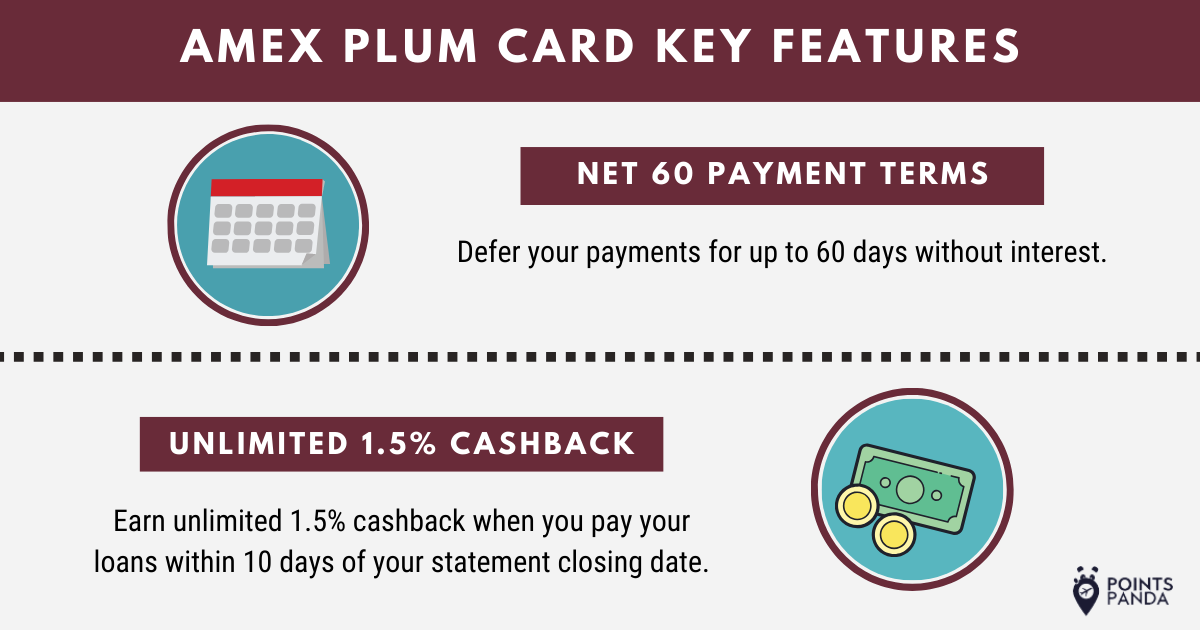 Amex Plum Card key features