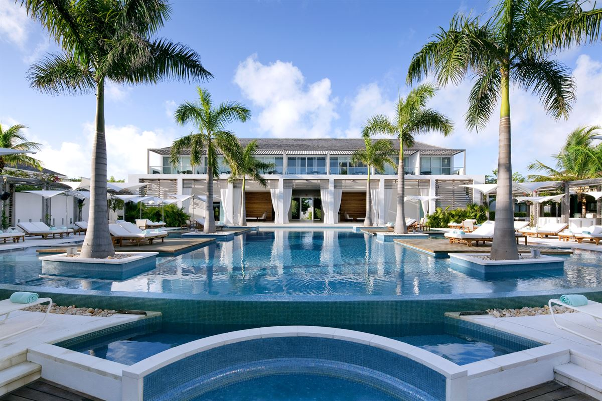 The American Express Gold Card can book luxury hotel & resort stays, like at the Wymara Resort and Villas in the Turks & Caicos Islands