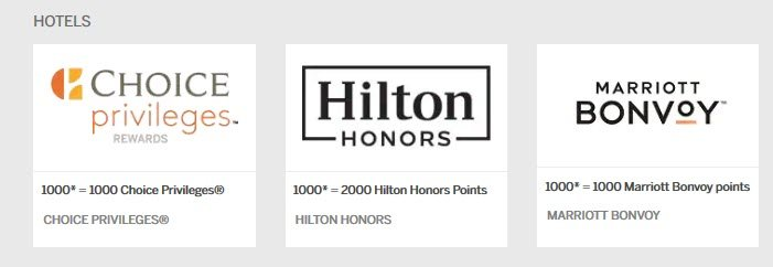 You can transfer American Express Membership Rewards points to Choice Priveleges, Hilton Honors, and Marriott Bonvoy