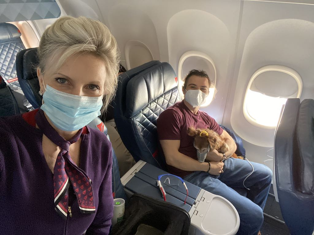 Flying with a dog on Delta during the Covid-19 pandemic