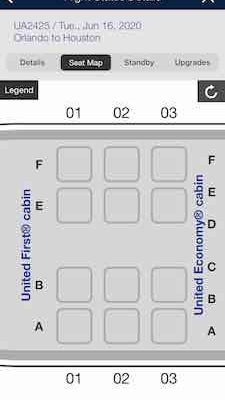 United A319 first class seating map
