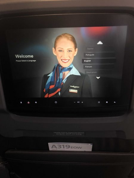 American Airlines A319 Business Class