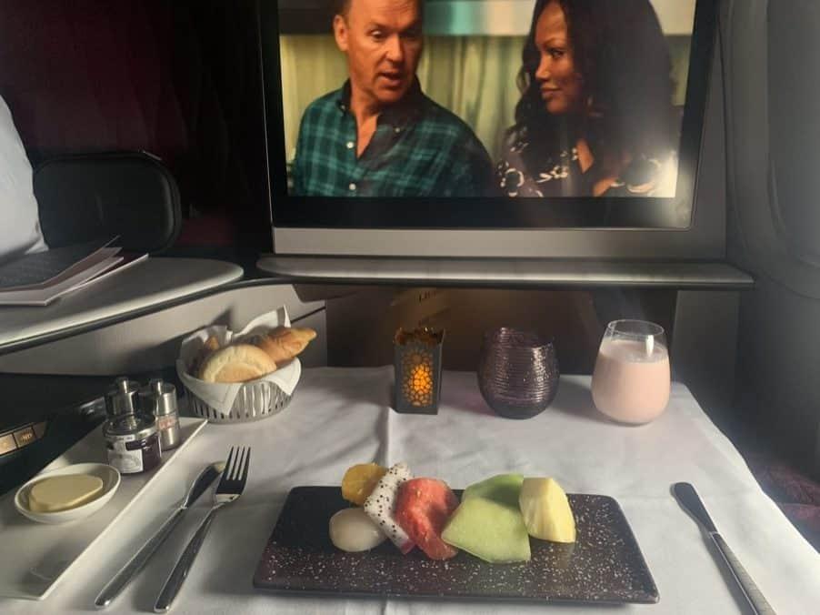 A350 Qsuite - Food Presentation Qatar Airways